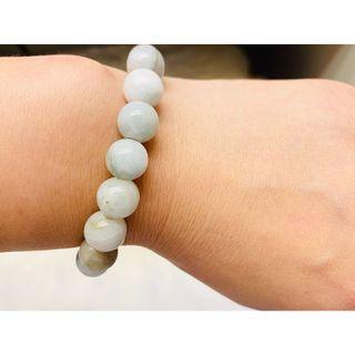 Authentic jade round beads bracelet with elastic band