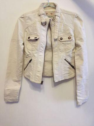 Abercrombie & Fitch Ivory suede jacket