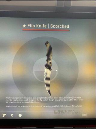 🚚 csgo Flip knife scorched MW