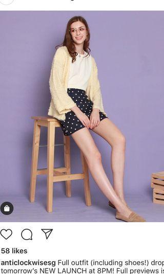 BNIB ACW Anticlockwise Wheat Knitted Cardigan in Cream - Tcl closet lover neonmello lilypirate hollyhoque tsw fayth love bonito wonderstellar TTR tinsel rack 3inute