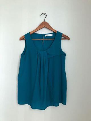 🚚 Bysi Pleated Front Sleevless Tank Top