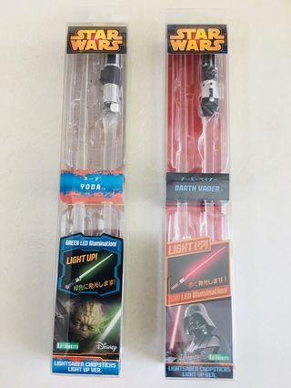 Kotobukiya Star Wars lightsaber Chopsticks light up