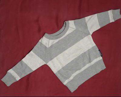 Grey Strips Sweter