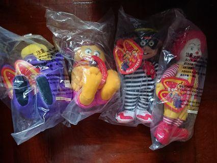 麥當勞叔叔 漢堡神偷 滑嘟嘟 小飛飛 公仔 McDonald's Dolls 玩具 洋娃娃 1997