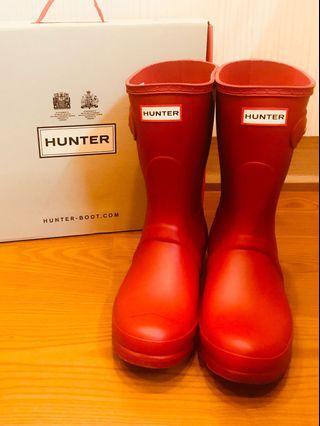 🚚 HUNTER 38號紅色霧面中筒雨靴(超級新)