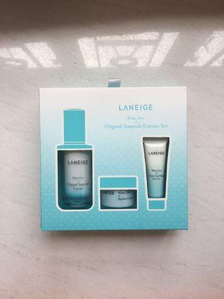 (包郵) (3折) Laneige White Dew Ampoule Essence Set 水光亮白精華套裝 (原價$645) (100% NEW 全新)