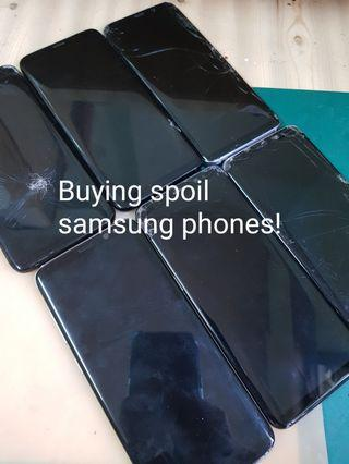 Sell your spoil samsung phones!