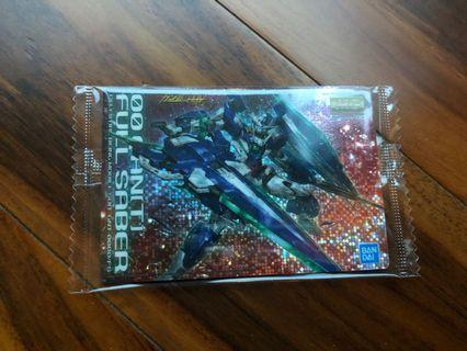 Gundam Package Art Collection 高達 卡 威化餅 食玩 card mg 封面  OO 00 QuanT Full Saber