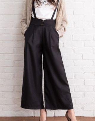 Two way High Waist Wide Pants - BLACK (BRAND NEW)