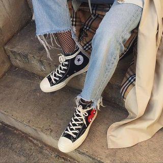 cdg comme des garcons converse sneakers low cut