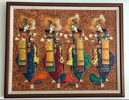 Original Oil Painting- Balinese Dancers