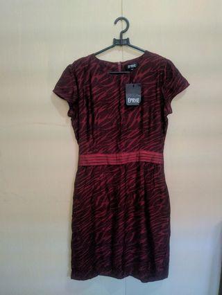 New!! Eprise Maroon Stripe Casual Dress #maudandan