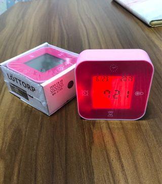 IKEA LOTTORP Alarm Clock in Red