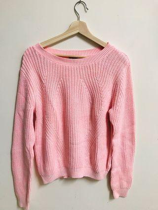 🚚 H&M粉色毛衣