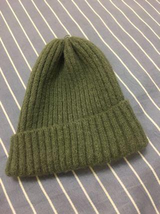 🚚 軍綠毛帽