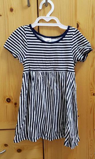 H&M 90cm/1.5-2Y 幼兒女童横間連身裙