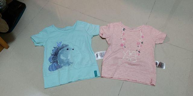 Decathlon 迪卡儂 2Y 24m幼兒女童bb女嬰 短袖衫