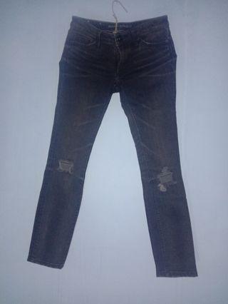 Banana Republic Black Ripped Jeans