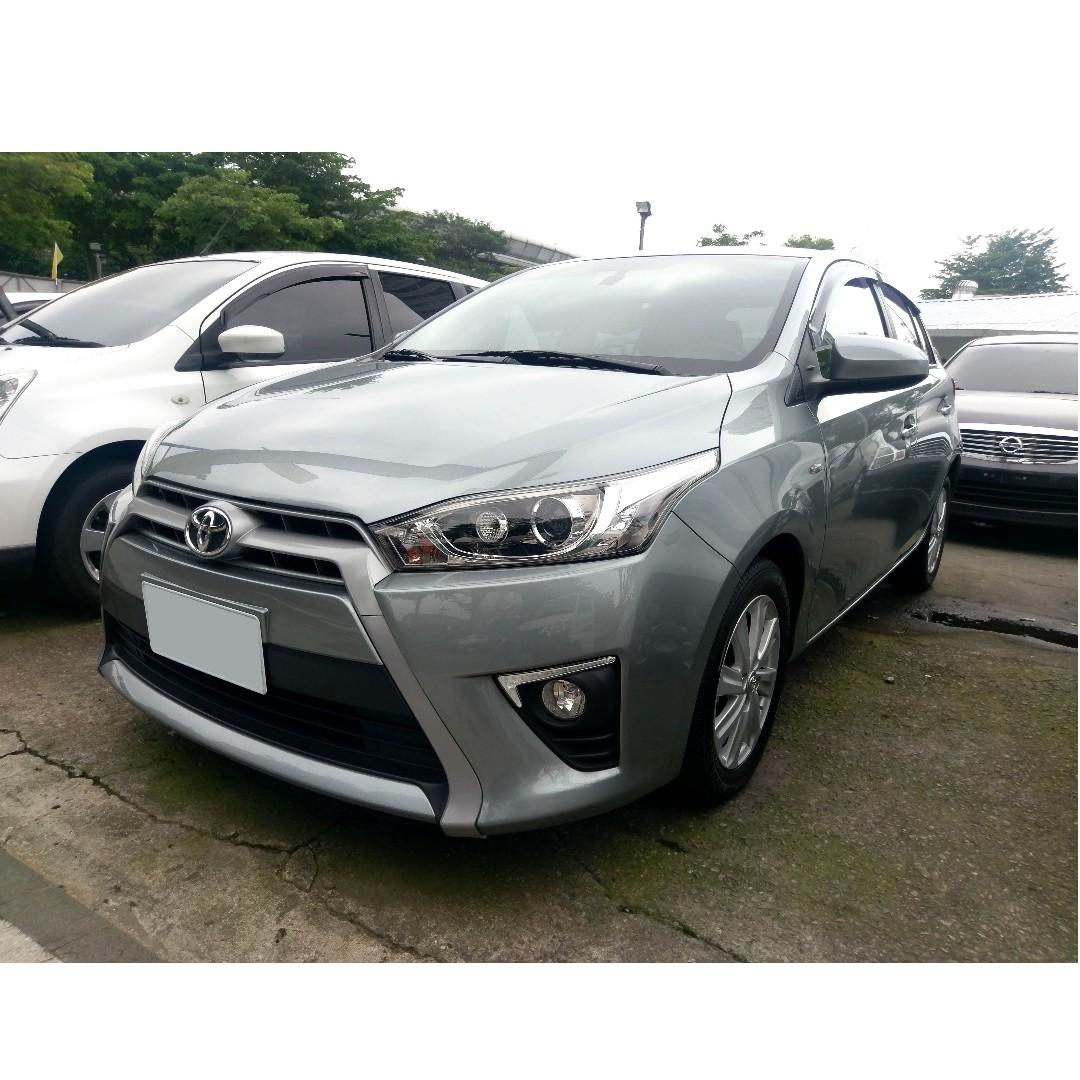 2014 Toyota Yaris 1.5 灰 配合全額貸、找錢超額貸 FB搜尋 : 『阿文の圓夢車坊』