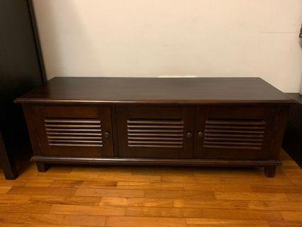 🚚 Teak Wood TV Console