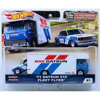 Hotwheels 2019 Team Transport Series '71 Datsun 510 Fleet Flyer Car Culture Rare Hot Wheels BRE