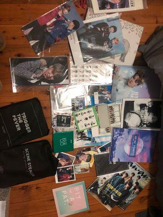Whole box of merch and some official items