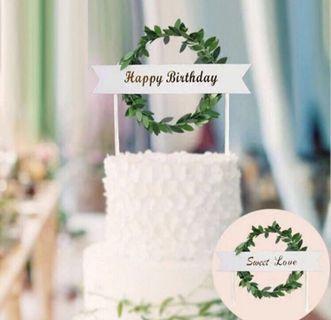 🚚 Happy birthday topper