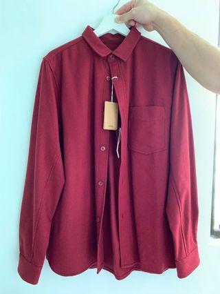 APC wool blend twill overshirt