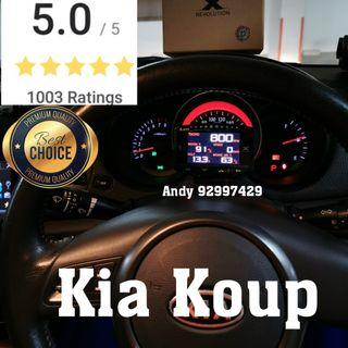 Kia Koup Lufi X1 Revolution OBD OBD2 Gauge Meter display