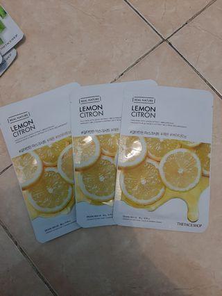 The Face Shop Sheet Mask Lemon