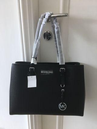 Michael Kors Leather Black Tote Bag 黑色真皮手袋 100% Real & NEW 全新未用過