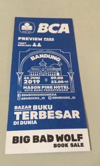 Big bad wolf bandung preview pass ticket for 2