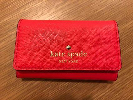 Kate Spade Leather 6 Key Holder Red (Authentic)