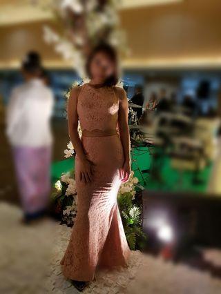 Preloved mermaid dress (atasan terpisah dengan bawahan)