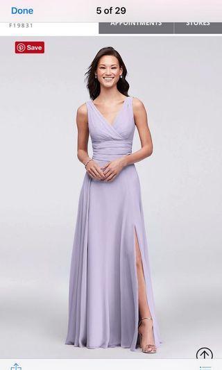 Iris long slit dress