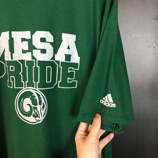 古著Adidas Mesa pride綠色短t