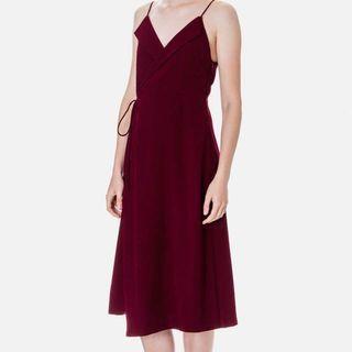 Beyond The Vines Lapel Camisole Wrap Dress