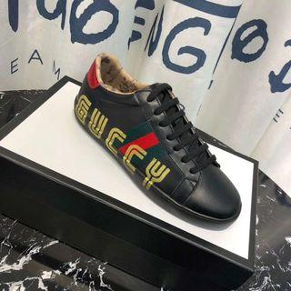 GUCCY BLACK SNEAKERS SIZE 42