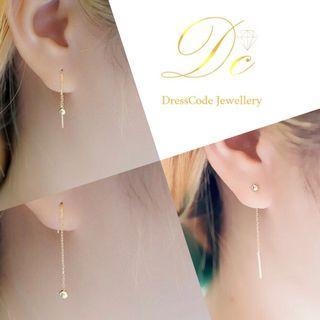 純銀包14K耳環