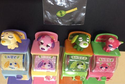 茶犬迷你扭蛋機 茶貓迷你扭蛋機 迷你轉蛋機 絕版扭蛋機 Yujin 茶犬 茶貓 扭蛋 盒玩
