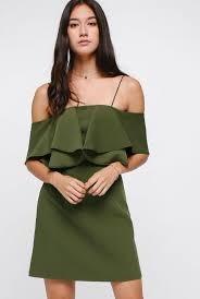 Love Bonito -Theora Off Shoulder Dress (Olive)