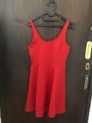 hnm red dress new
