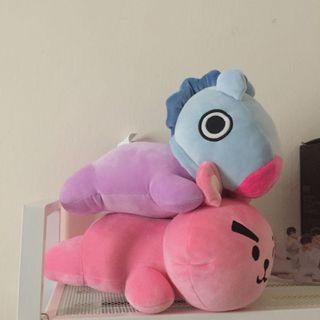 BT21 UNOFFICIAL LYING DOLL PLUSHIE MANG COOKY