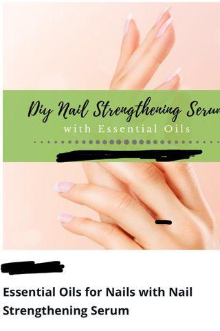 Homemade nail oils using essential n carrier oils