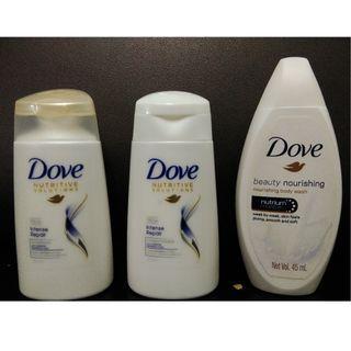 Dove Travel Set + Free Pavilion toiletries pouch #MGAG101
