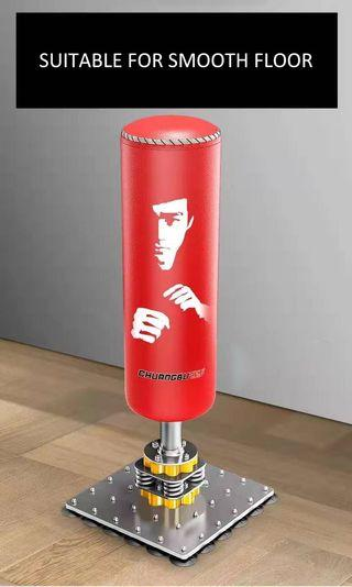 4 Layers lather punching bag with spring steel foot