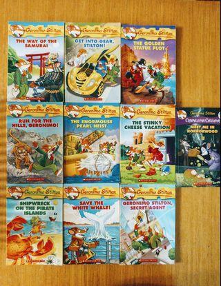 Geronimo Stilton 10 books like new老鼠記者英文
