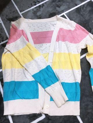 🚚 拼色針織小外套