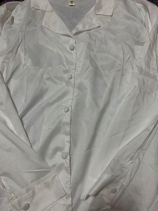 🚚 經典翻領率性長袖白襯衫OL