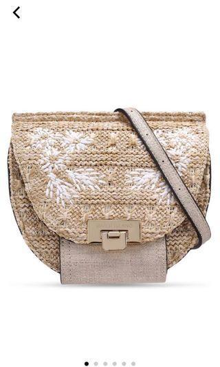Neutral Weave Basket Bum Bag